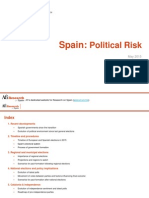 Spain - Political Risk Update