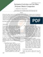 A Survey on Mechanical Activities on Coir Fiber Resistant Polymer Matrix Composites