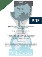Wikileaks Science Issues