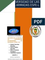 Informe  a la visita técnica a CEDAL S.a. COTOPAXI