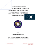 Modul Organisasi Arsitektur Struktur Fungsi Komputer Dan Struktur Mesin Von Neumann