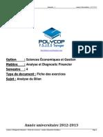 S4 - ADF - Exercices Série 1 Analyse Du Bilan