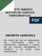 DECRETO 1640 2012