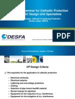 6a. Design_Technical Seminar for Cathodic Protection to GOGC Design