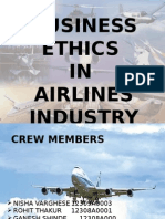 Air Line Industry Business Ethics