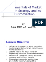 Fundamentals of Market Driven Strategy and Its Customization