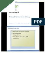 Module 3 Remote Access Gateway