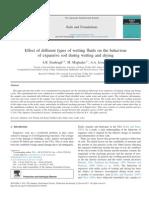Effect Ofdifferenttypesofwetting Fluids Onthebehaviour