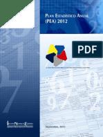 Plan Estadístico Anual 2012