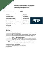 Lista Dos Símbolos e Termos Utilizados Em Partituras Na Notação Musical Moderna