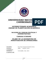 Silabo Investigacion Economia Marzo 2015