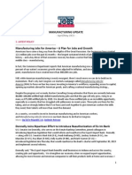 Manufacturing Jobs for America Update - April/May 2015