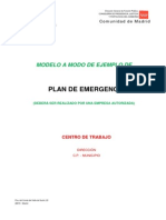 Modelo Plan de Emergencias Comunidad de Madrid