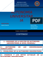 Autonomía en las Universidades Venezolanas