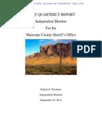 Melendres # 744   Monitors 1st Report   d.ariz. 2-07-Cv-02513 744 Monitor's First Quarterly Report
