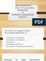 The Changing Profile of a Global Manager
