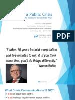 ve crisis communication presentation