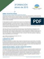 Programación Febrero 2015 Parque de Las Ciencias