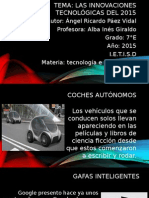 Las Innovaciones Tecnológicas Del 2015 2° Ángel Paez