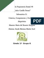 Competencias y Evaluacion Diagnostica