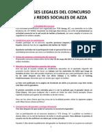 Bases Legales Concurso en Redes Sociales de AZZA