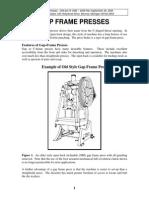 Gap Frame presses