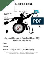 CARNET DE BORD 2014 2015 27 03 15