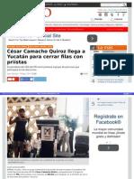 20-05-2015 César Camacho Quiroz llega a Yucatán para cerrar filas con Priístas.