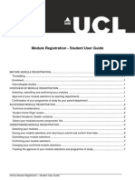Module Registration Student Userguide