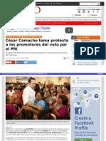 20-05-2015 César Camacho toma protesta a los promotores del voto por el PRI.