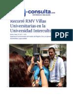 19-05-2015 E-consulta.com - Recorre RMV Villas Universitarias en La Universidad Intercultural