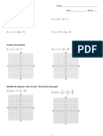 review 9 1 properties of parabolas & graphing