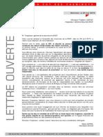 Lettre Ouverte Inspecteur Général Securité SNCF