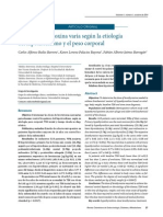 Dosis de levotiroxina varía según la etiología del hipotiroidismo y el peso corporal