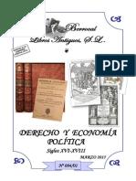CATÁLOGO 004-01 DERECHO Y ECONOMÍA POLÍTICA (s.XVI-XVIII)