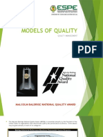 Models of Quality