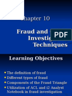 Fraud ad Other Investigative Techniques