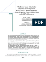 Improvement of the Index Properties and Compaction Characteristics of Lime Stabilized Tropical Lateritic Clays With RHA