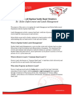 Notice Lands Management Bylaw Enforcement May 2015