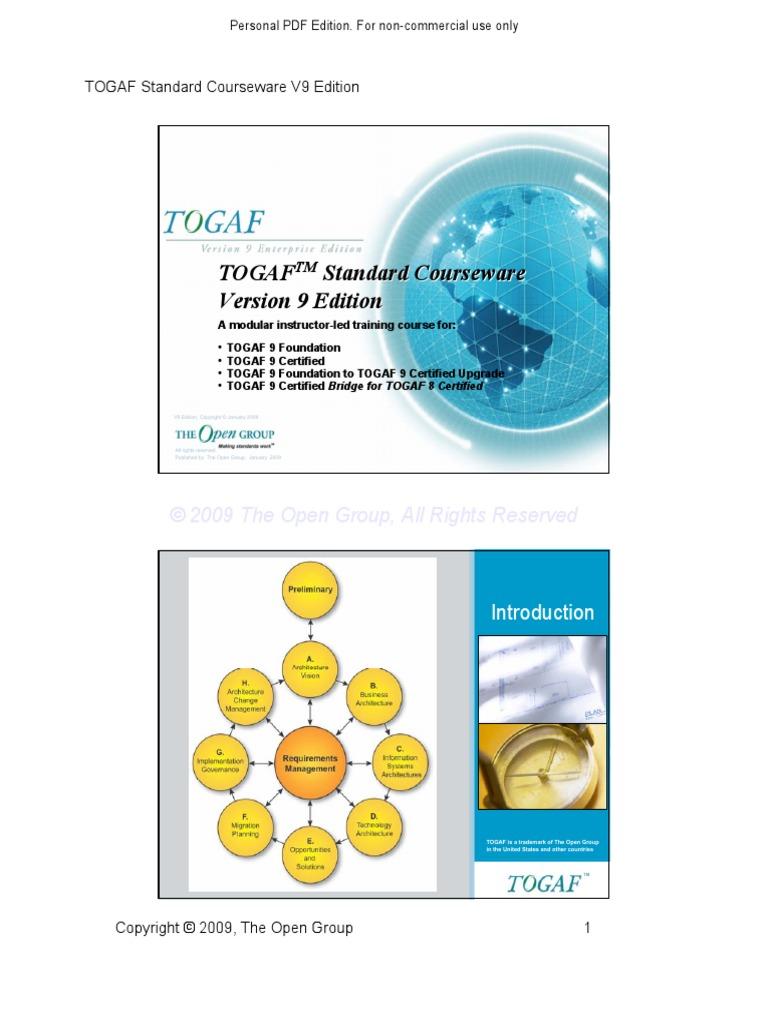 Togaf V9 M0 Course Intro Architect Information Technology
