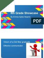8th grade showcase - google slides