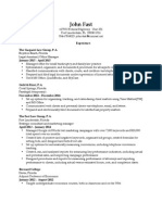 John Fast General Office Resume 2015