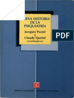 Poste Jacques y Quetel Claude Nueva Historia de La Psiquiatria