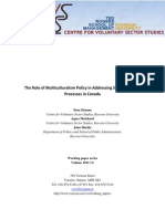 2011-3 the Role of Multiculturalism Policy in Addressing Social Inclusion