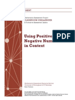 Using Positive and Negative Numbers in Context (1)