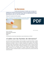 El Control de Derrames
