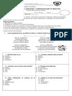 Evaluacion Lenguaje Tercero Basico AVANCE 1 UNIDAD