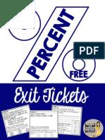 Percent Exit Tickets Free