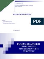 Planul de Afaceri Instrument Al Managementului Strategic
