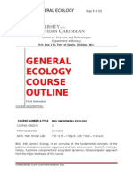 A Course Outline Ecology 2014 2015